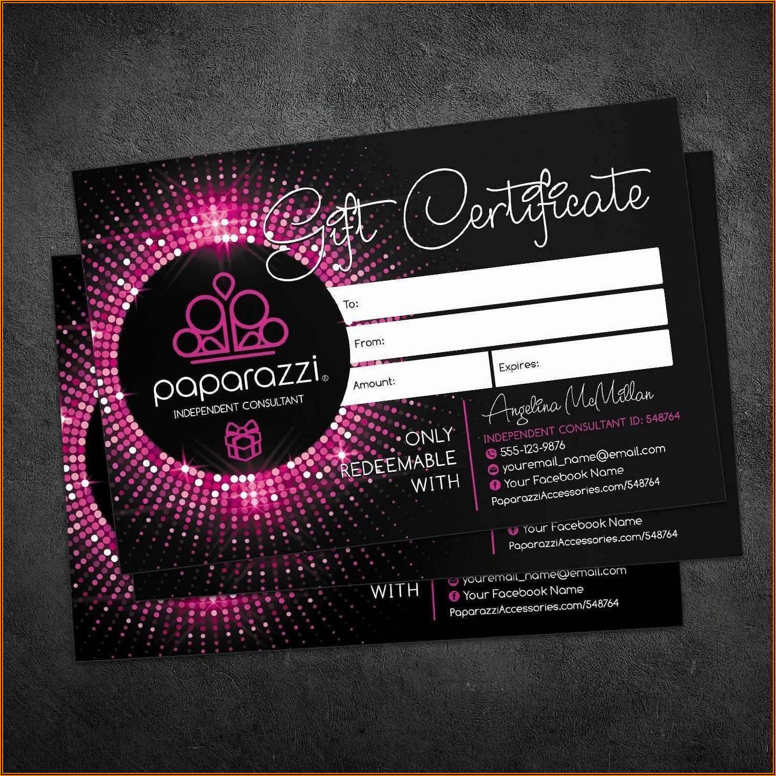 Free Paparazzi Business Cards Template