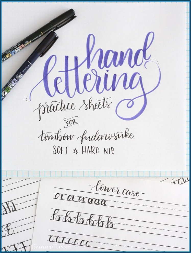 Free Printable Hand Lettering Alphabet Practice Sheets