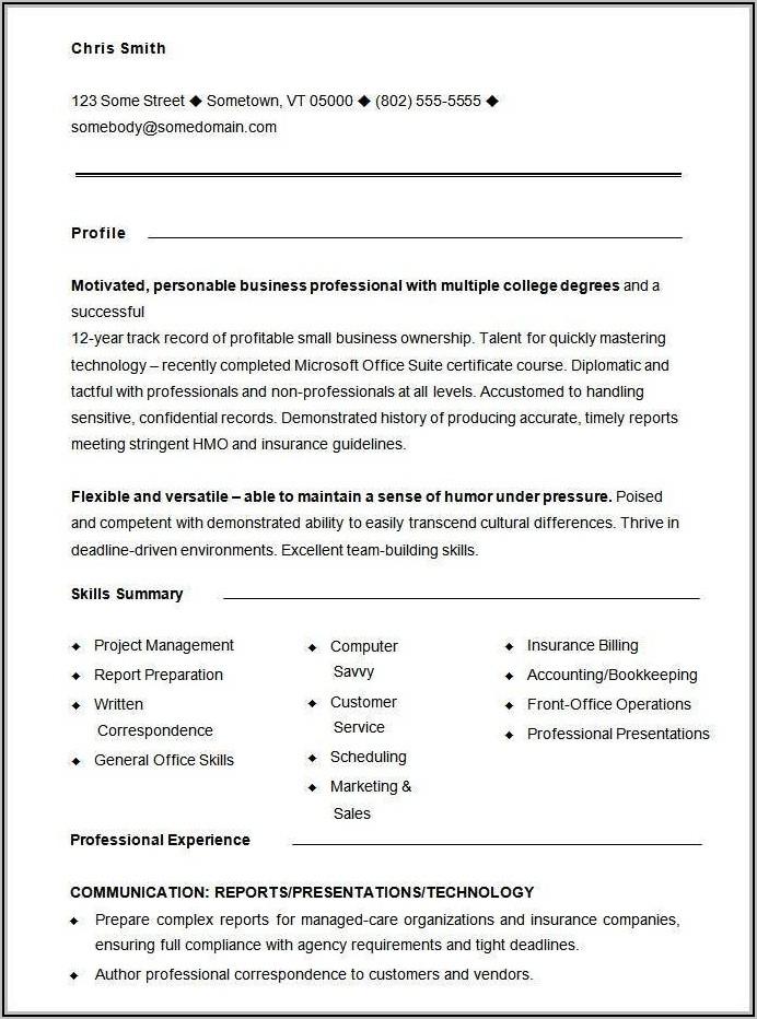 Free Sample Functional Resume Templates