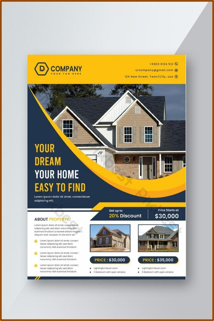 Free Template For Real Estate Flyers In Word