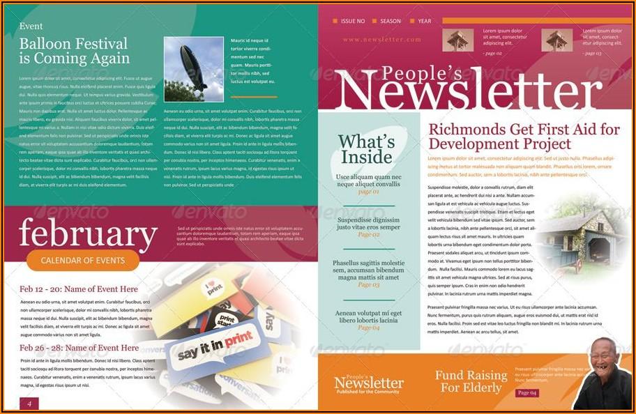 Free Word Newsletter Design Templates