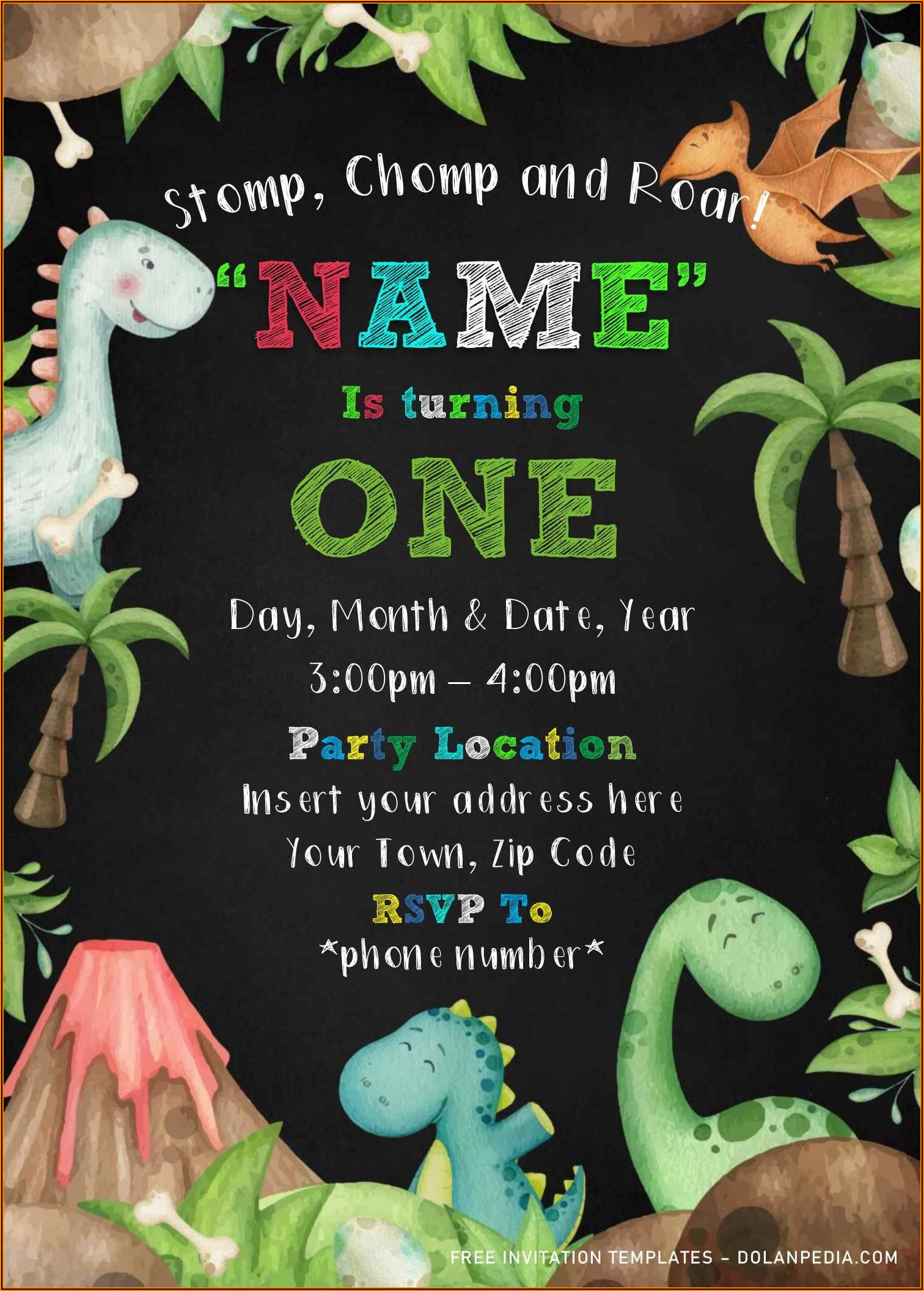 Free Word Templates For Birthday Invitations