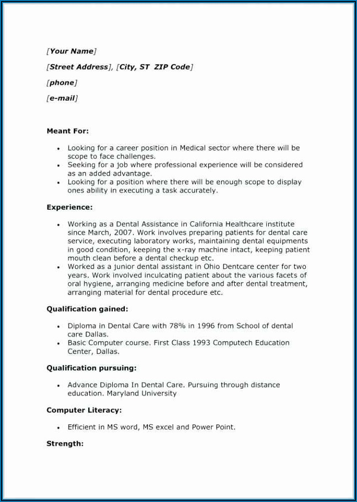 Good Cover Letter Examples For Dental Assistant