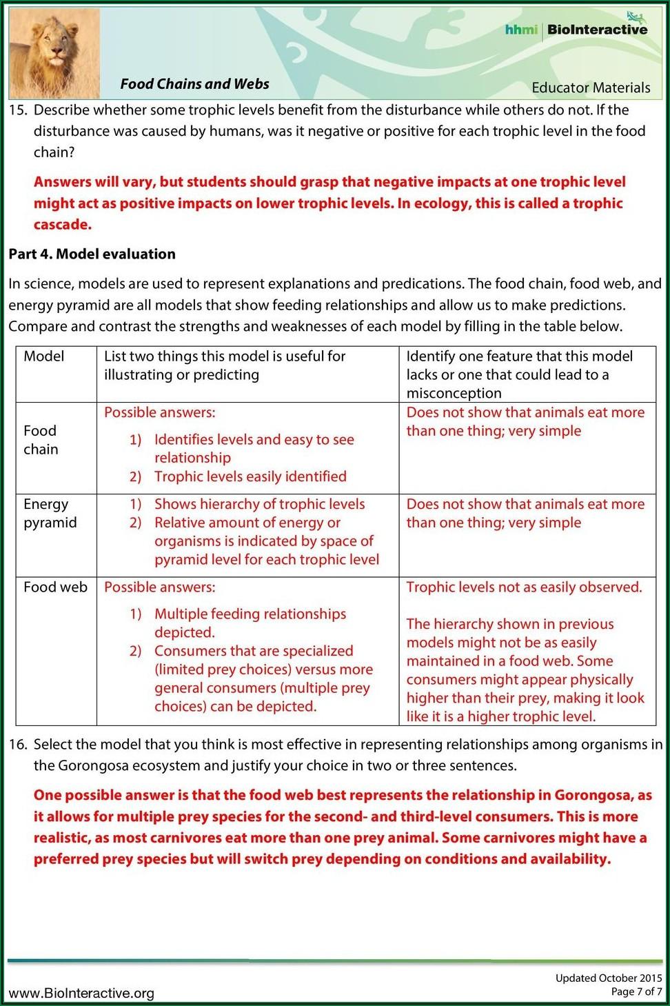Gorongosa Timeline Environmental Science Worksheet Answers