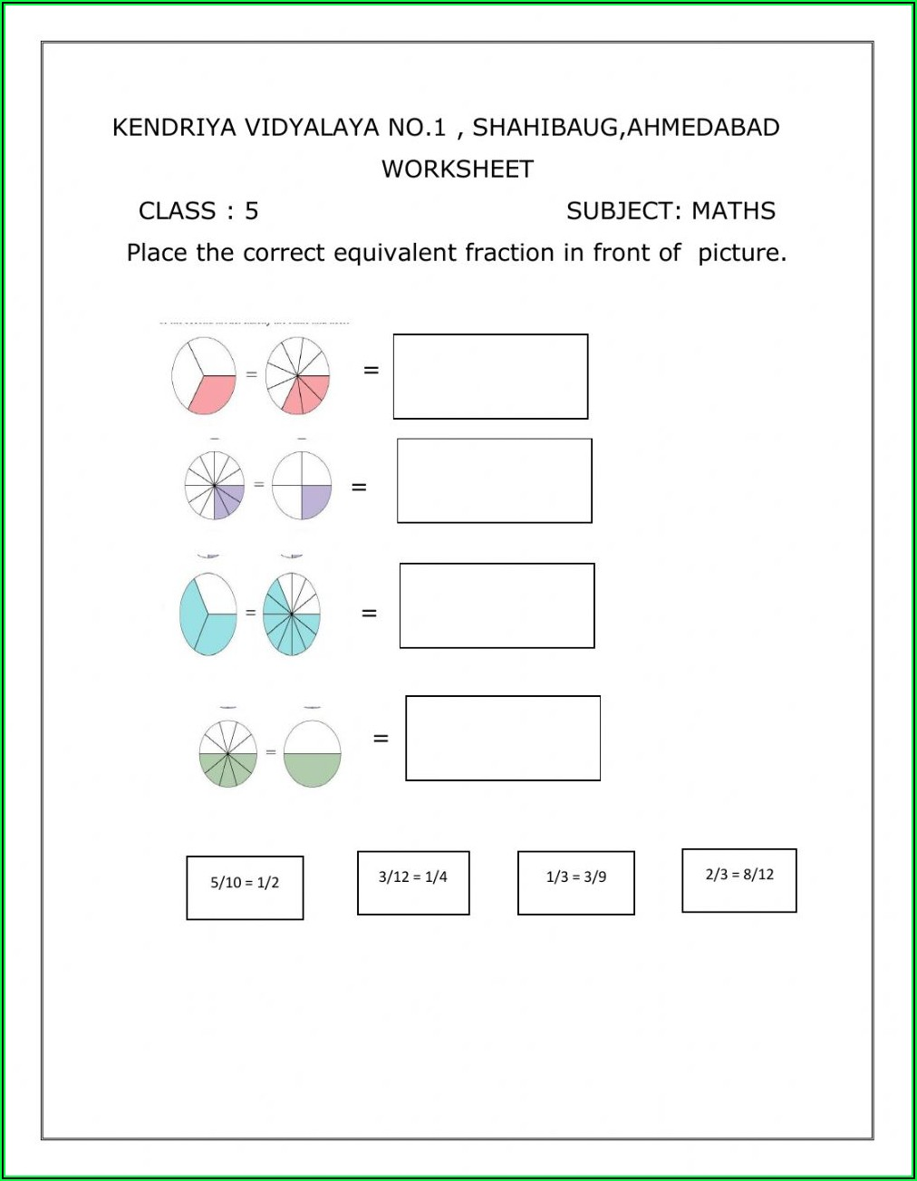 Grade 5 Maths Worksheets With Answers Pdf