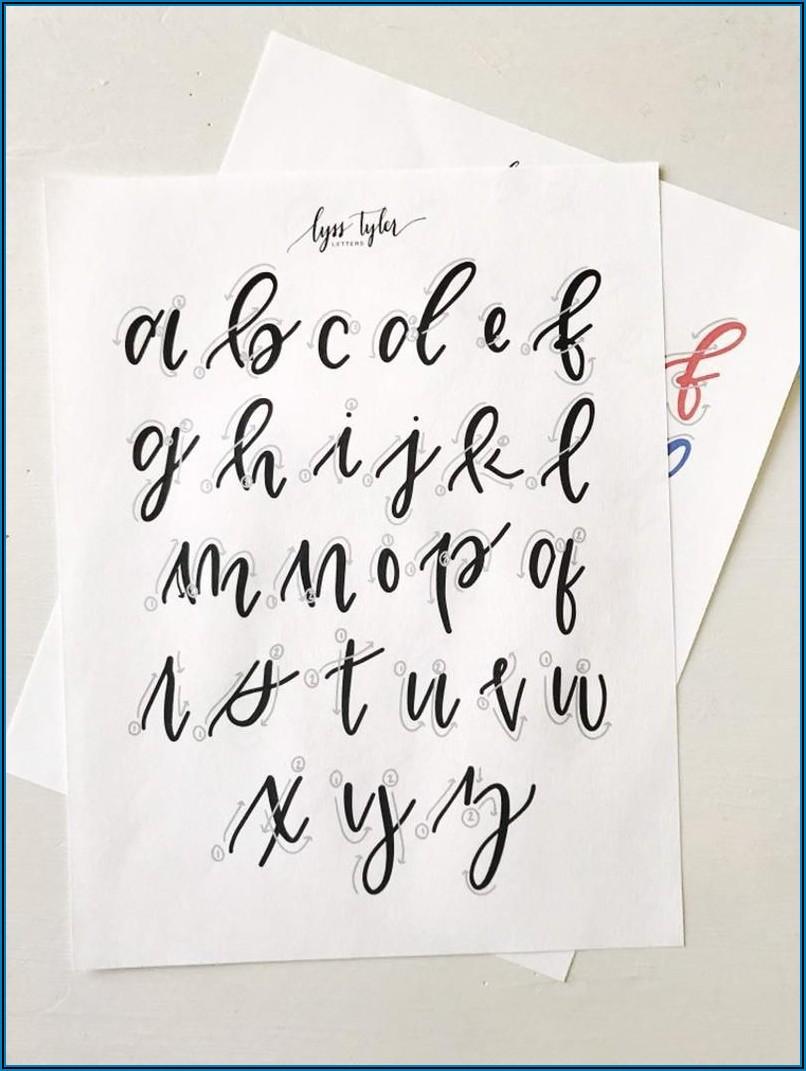 Hand Lettering Alphabet Practice Sheet