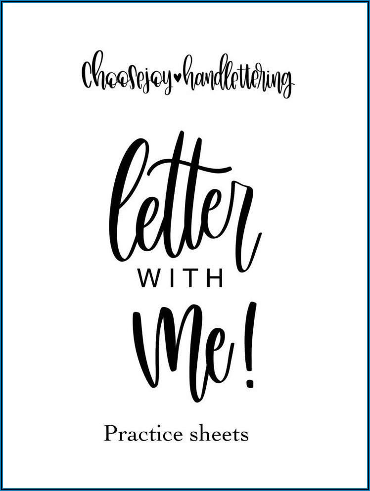 Hand Lettering Practice Sheets Download