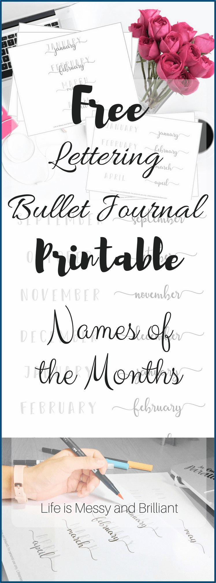 Hand Lettering Practice Sheets Free Printable