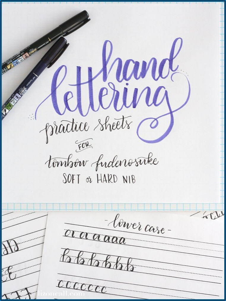 Hand Lettering Practice Sheets To Print