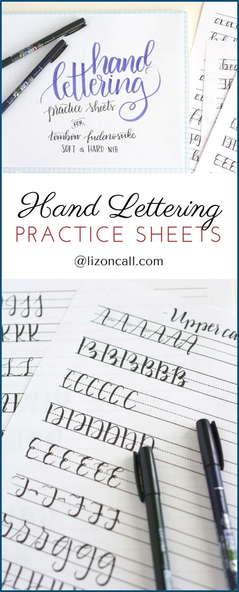 Hand Lettering Practice Sheets