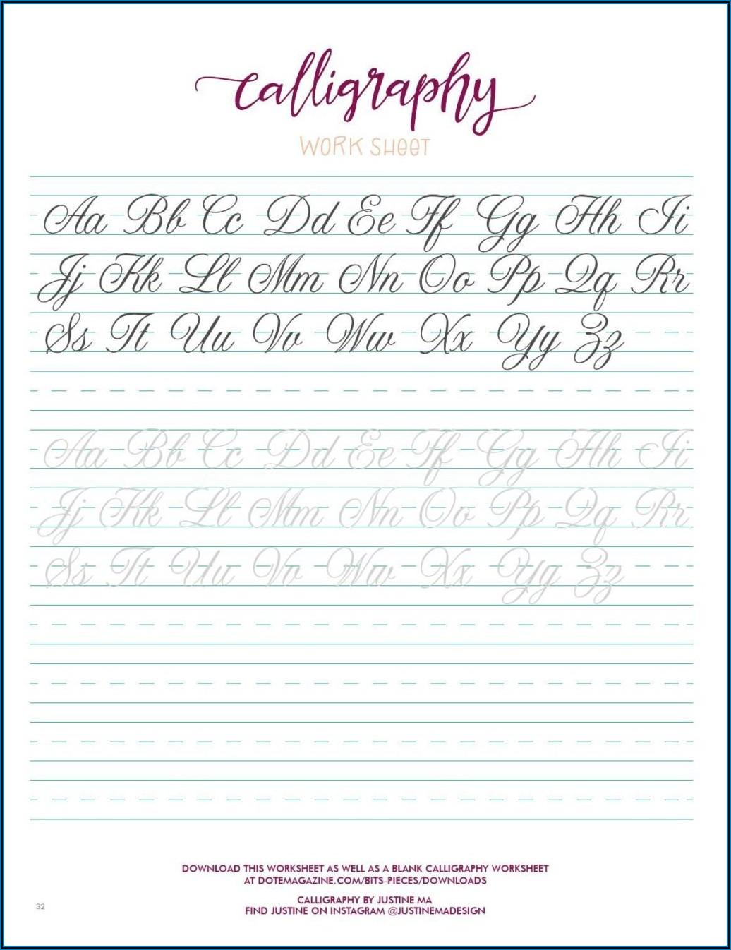Hand Lettering Practice Worksheets Pdf