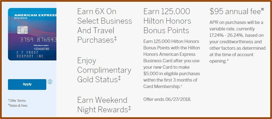 Hilton Honors American Express Business Card Bonus
