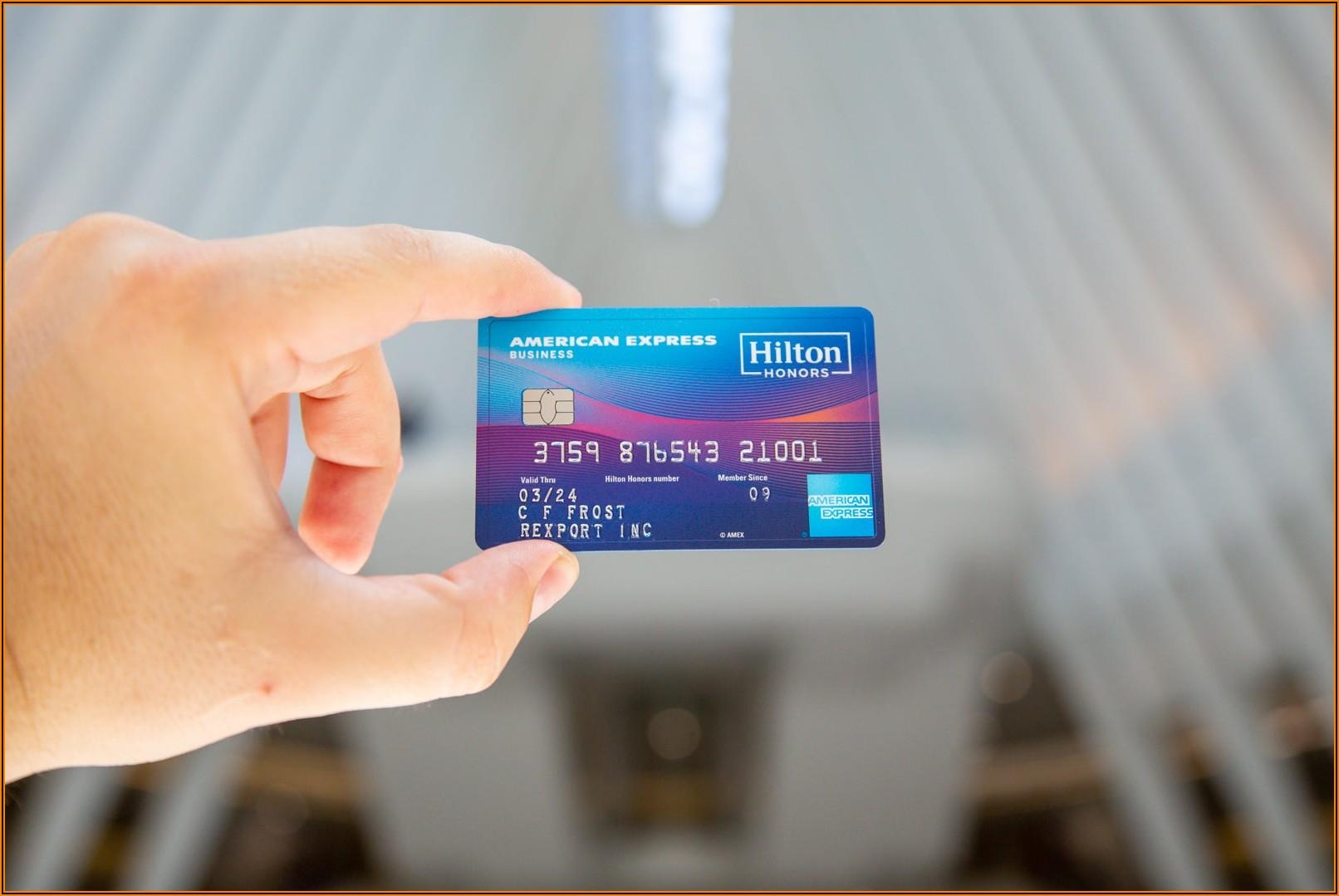 Hilton Honors Aspire Business Card