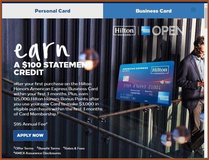 Hilton Honors Business Card