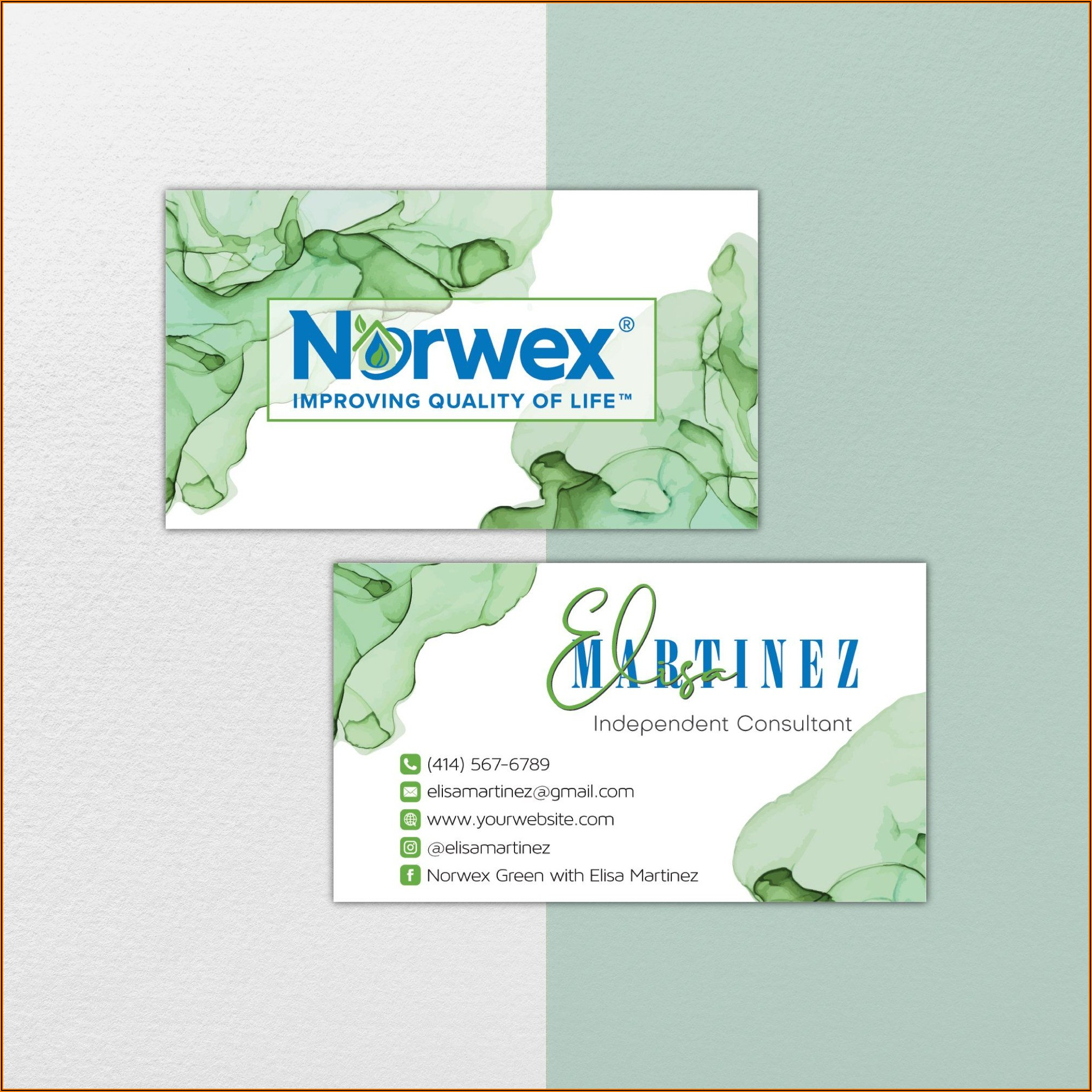 Isagenix Business Cards Template