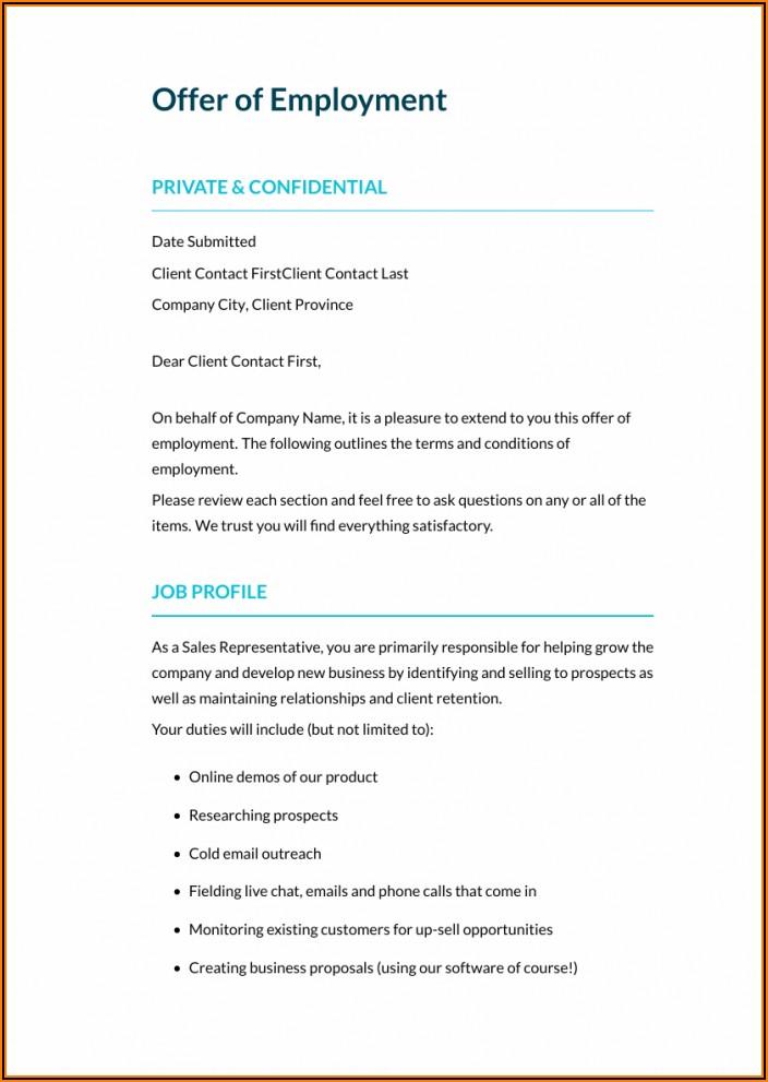 Job Contract Sample Pdf