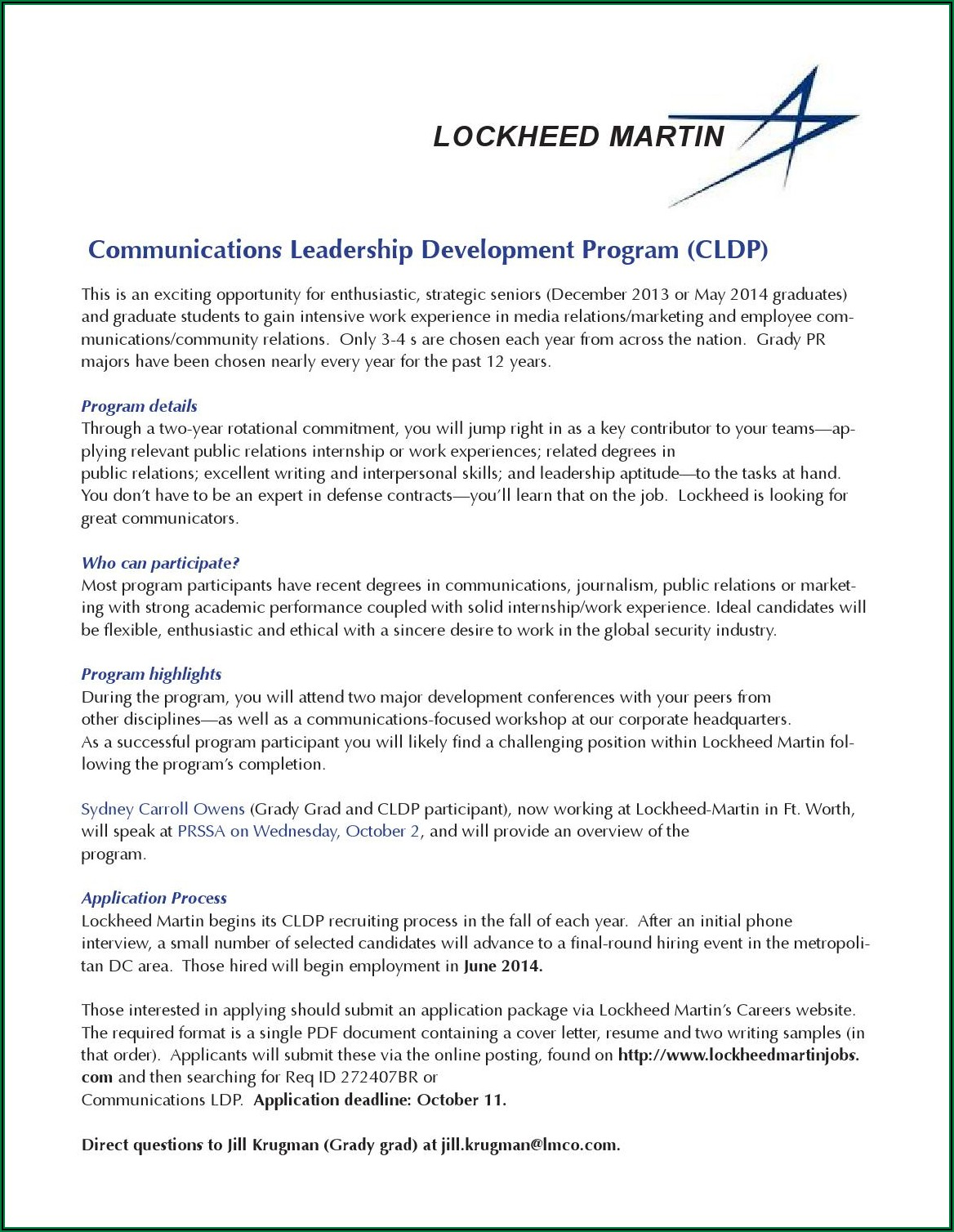 Lockheed Martin Intern Hiring Process