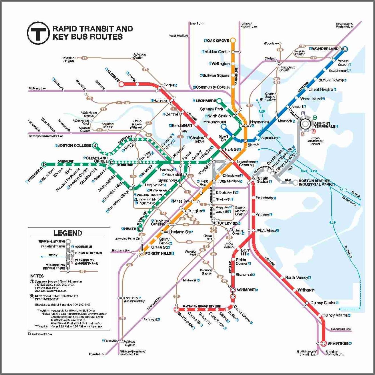 Mbta Commuter Rail Map 2019