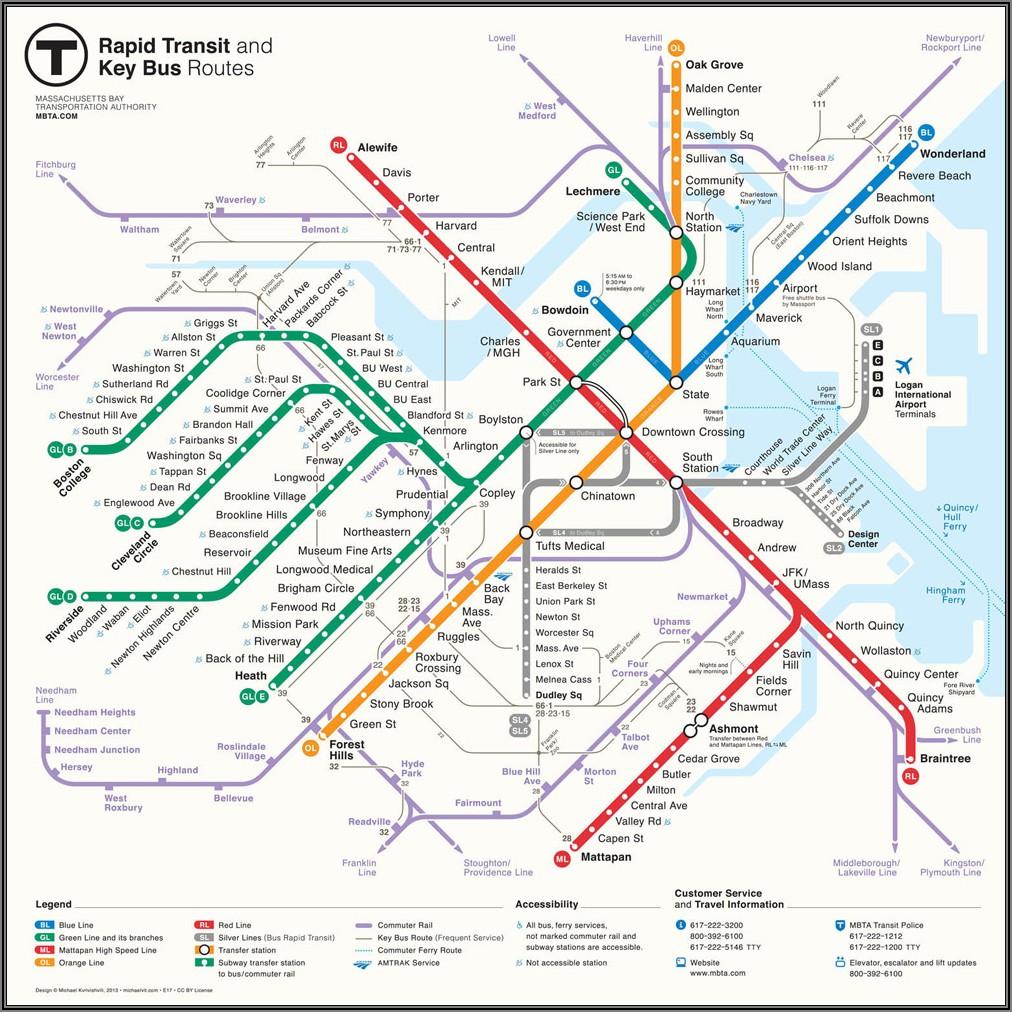 Mbta Commuter Rail Map Google