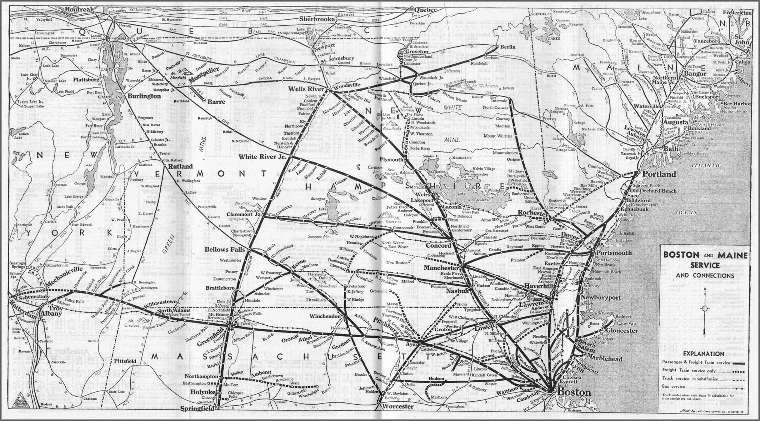 Mbta Commuter Rail Map Worcester Line