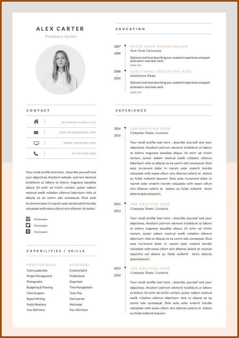Microsoft Word Resume Cover Letter Template