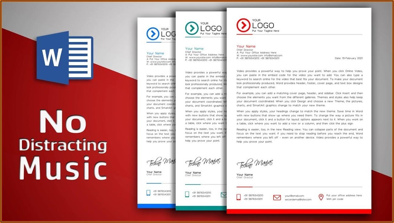 Microsoft Word Template Letterhead