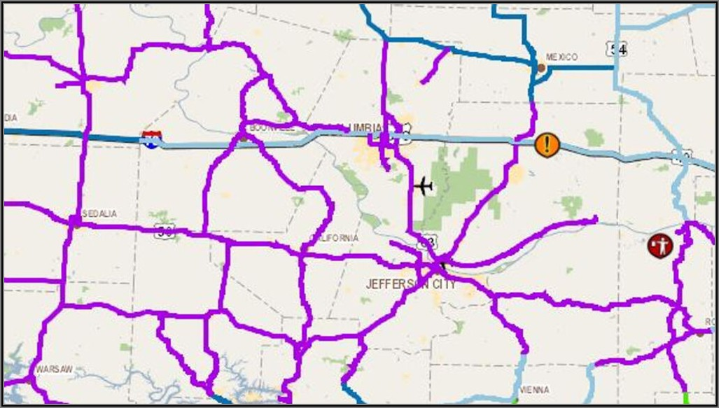 Modot Road Conditions Map Columbia Mo