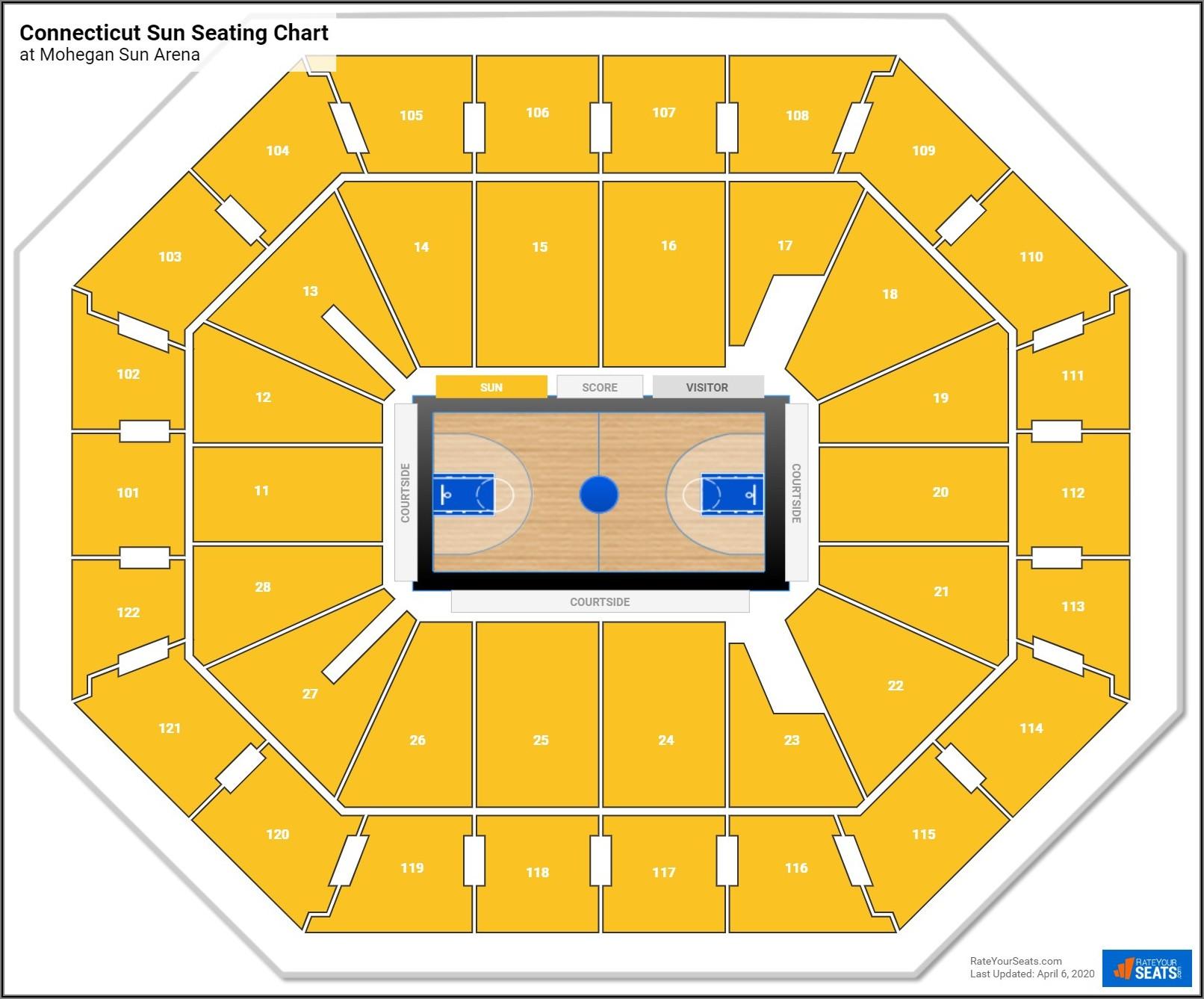 Mohegan Sun Arena Interactive Map
