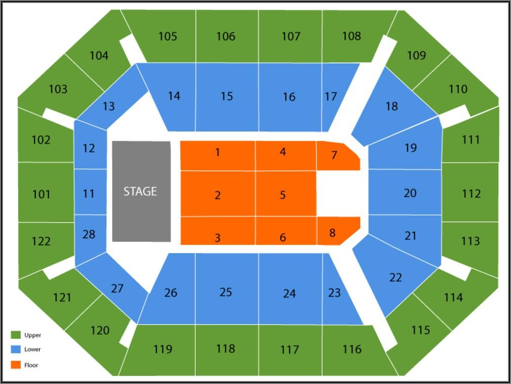 Mohegan Sun Arena Map Seating