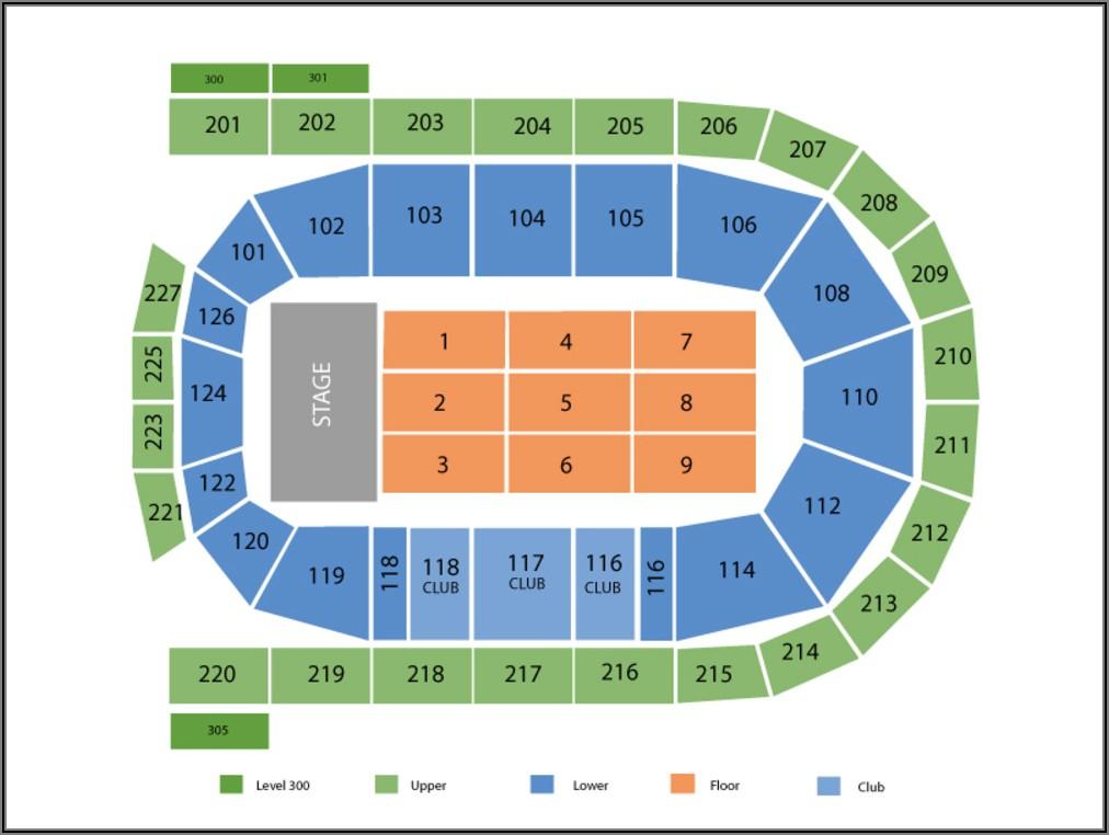 Mohegan Sun Arena Seating Map