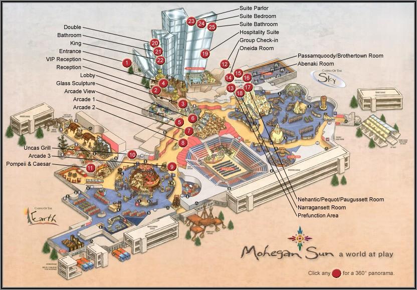 Mohegan Sun Map Earth Tower