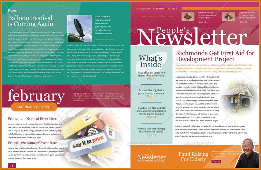 Ms Word Newsletter Template Free Download