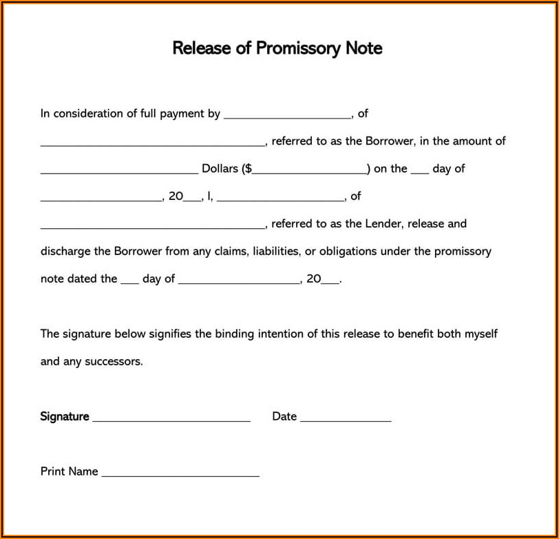 Ms Word Promissory Note Template