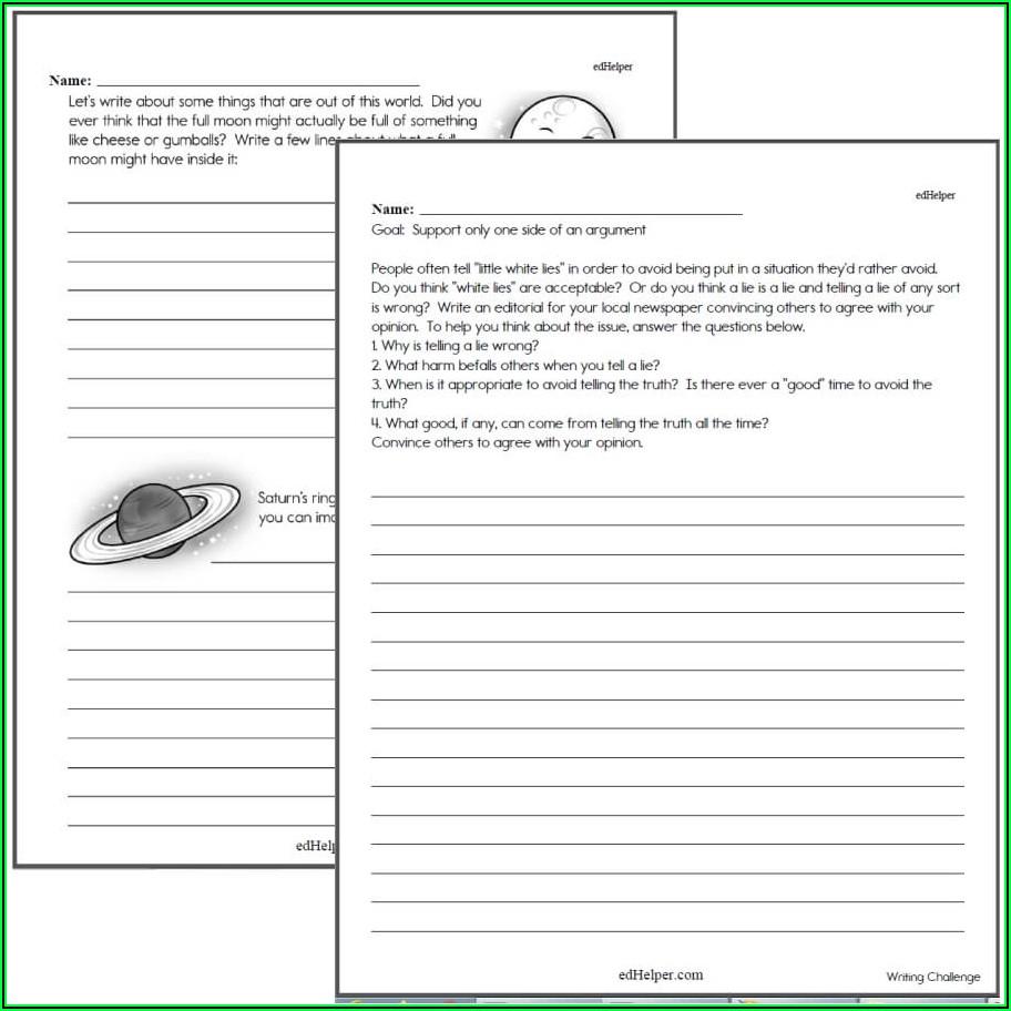 Narrative Writing Worksheets Grade 6 Pdf