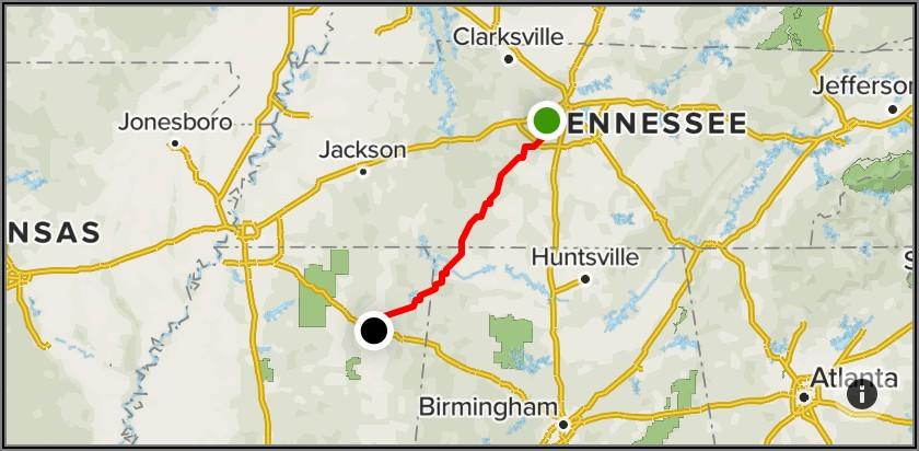 Natchez Trace Map Jackson Ms
