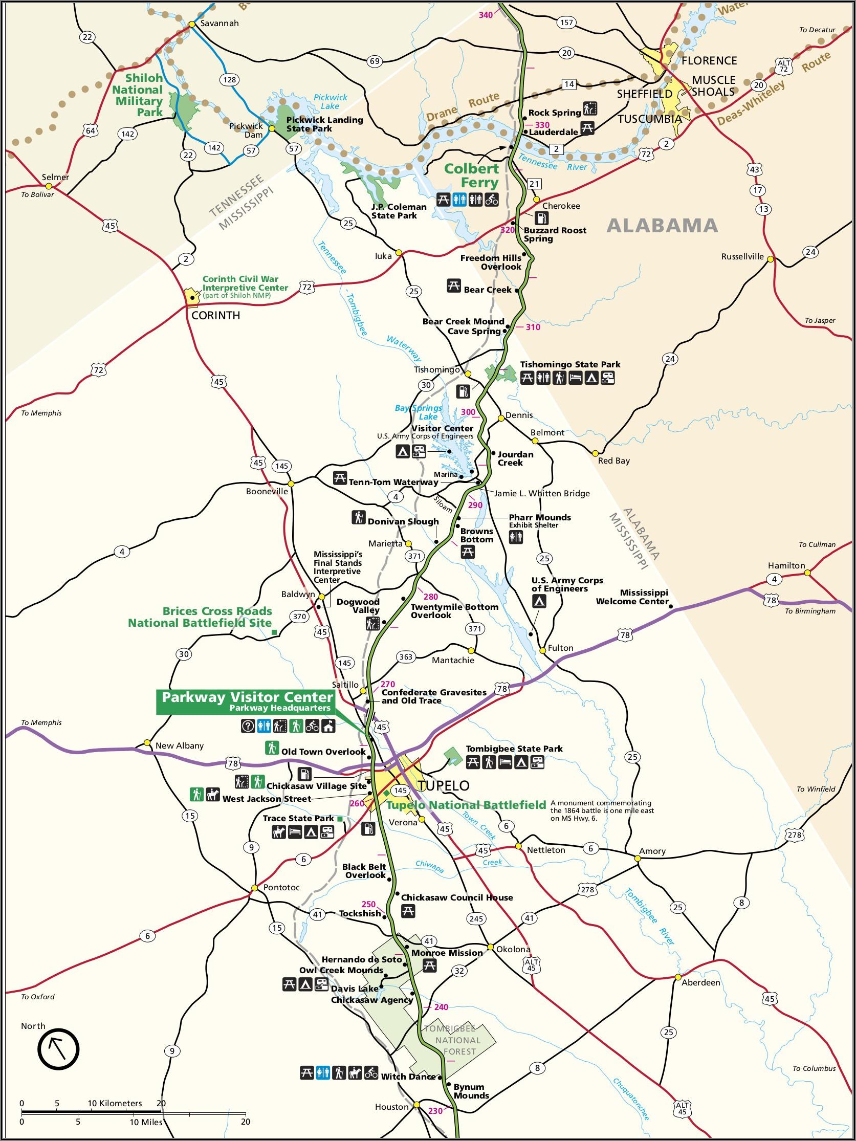 Natchez Trace Parkway Directions