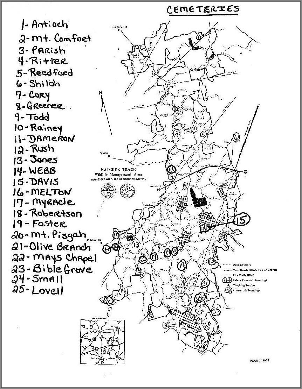 Natchez Trace State Park Hunting Map
