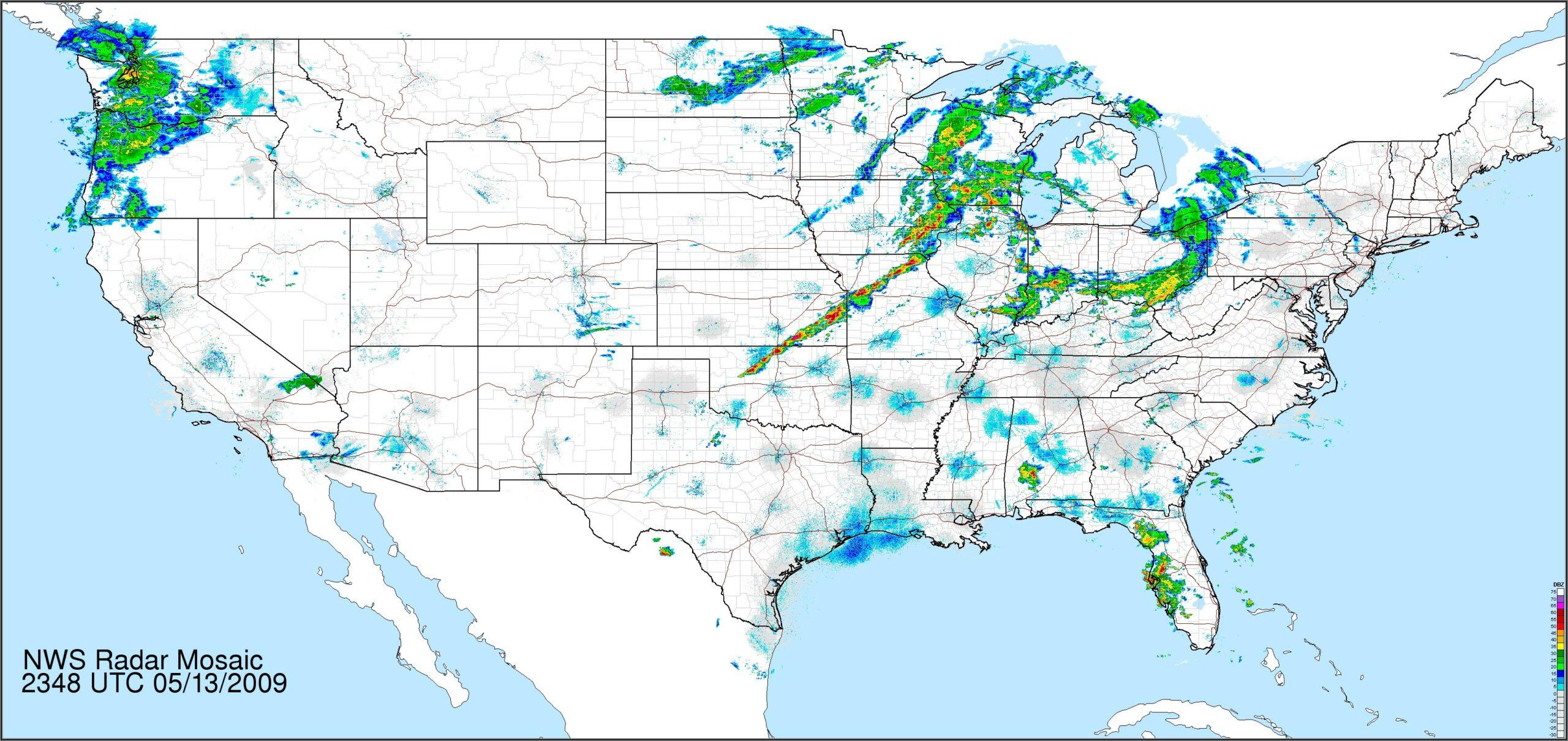 Noaa Doppler Weather Radar Enhanced Mosaic Full Resolution Loop