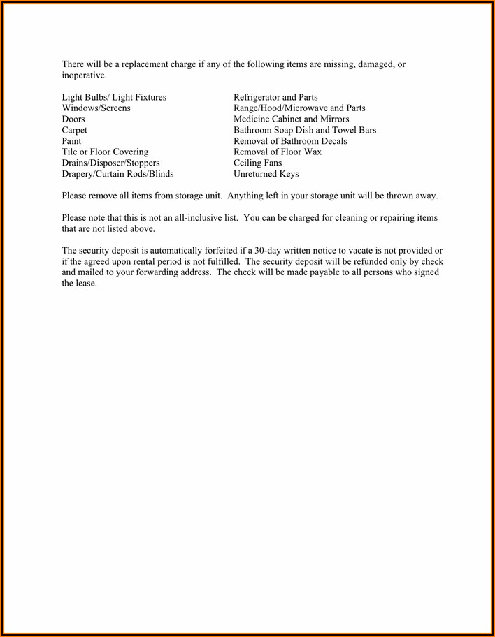 Notice Of Intent To Vacate Word Template