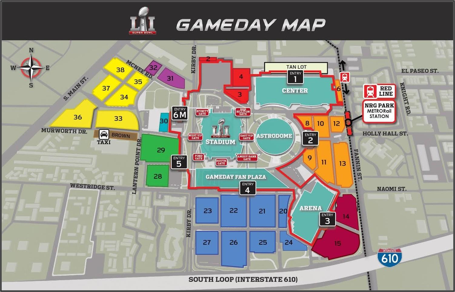 Nrg Stadium Entrances Map