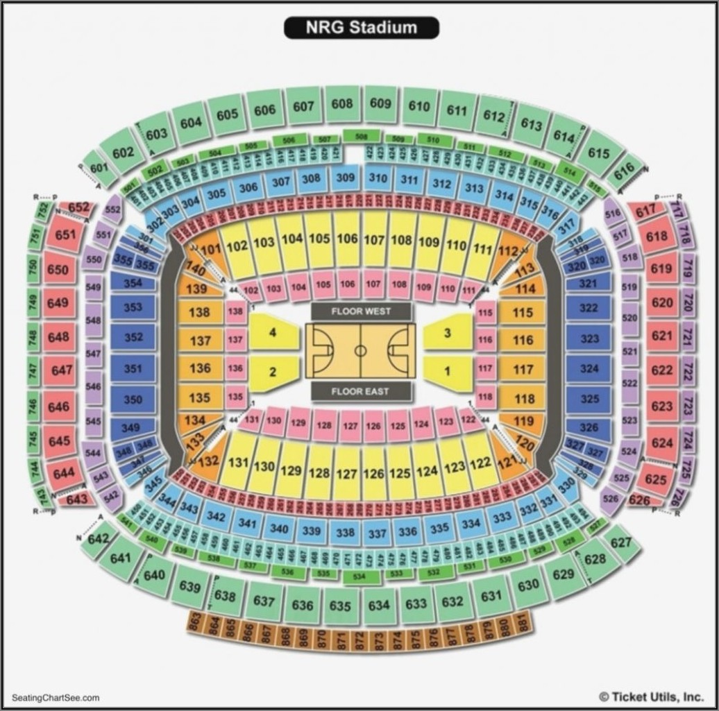 Nrg Stadium Map Gates