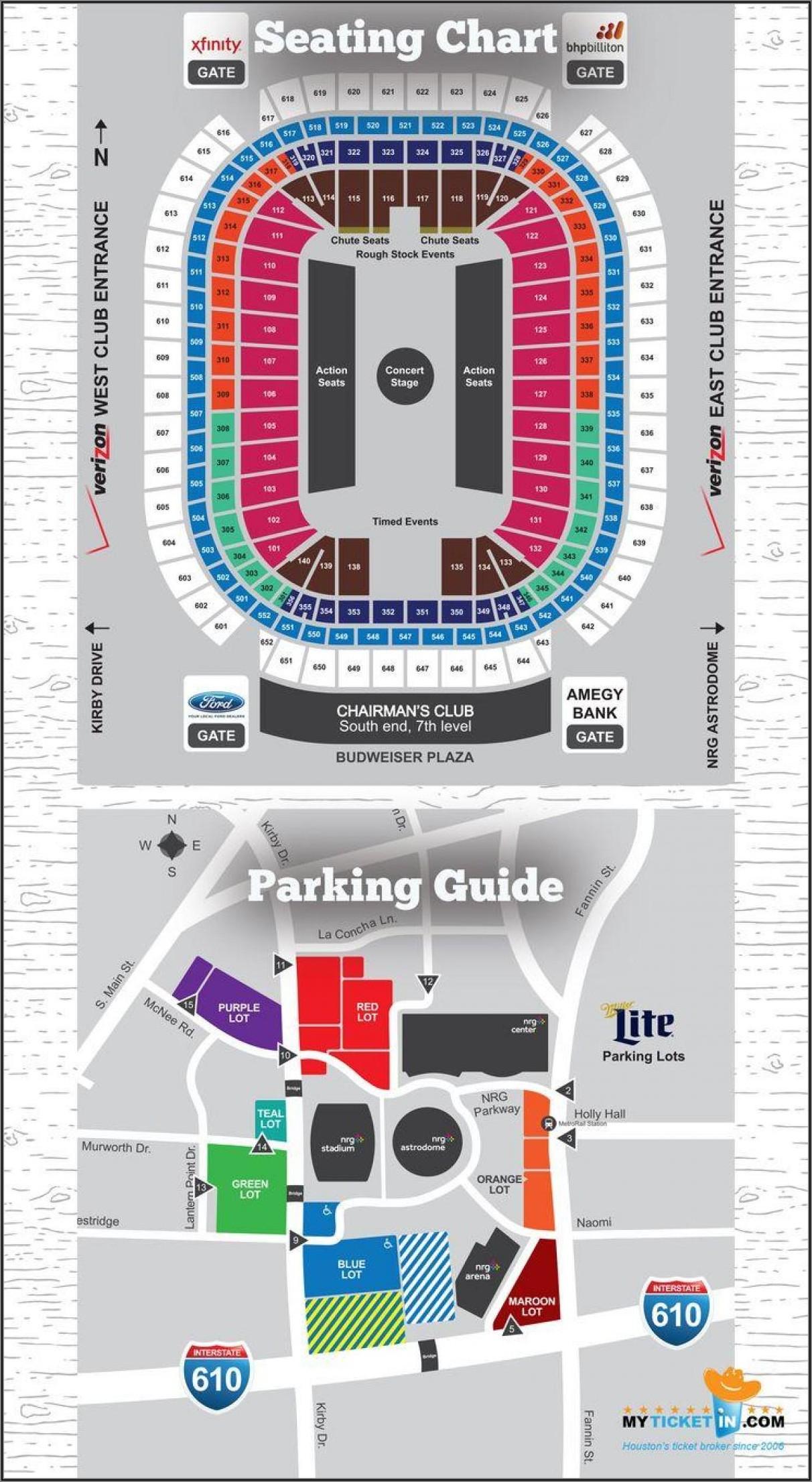Nrg Stadium Map Parking
