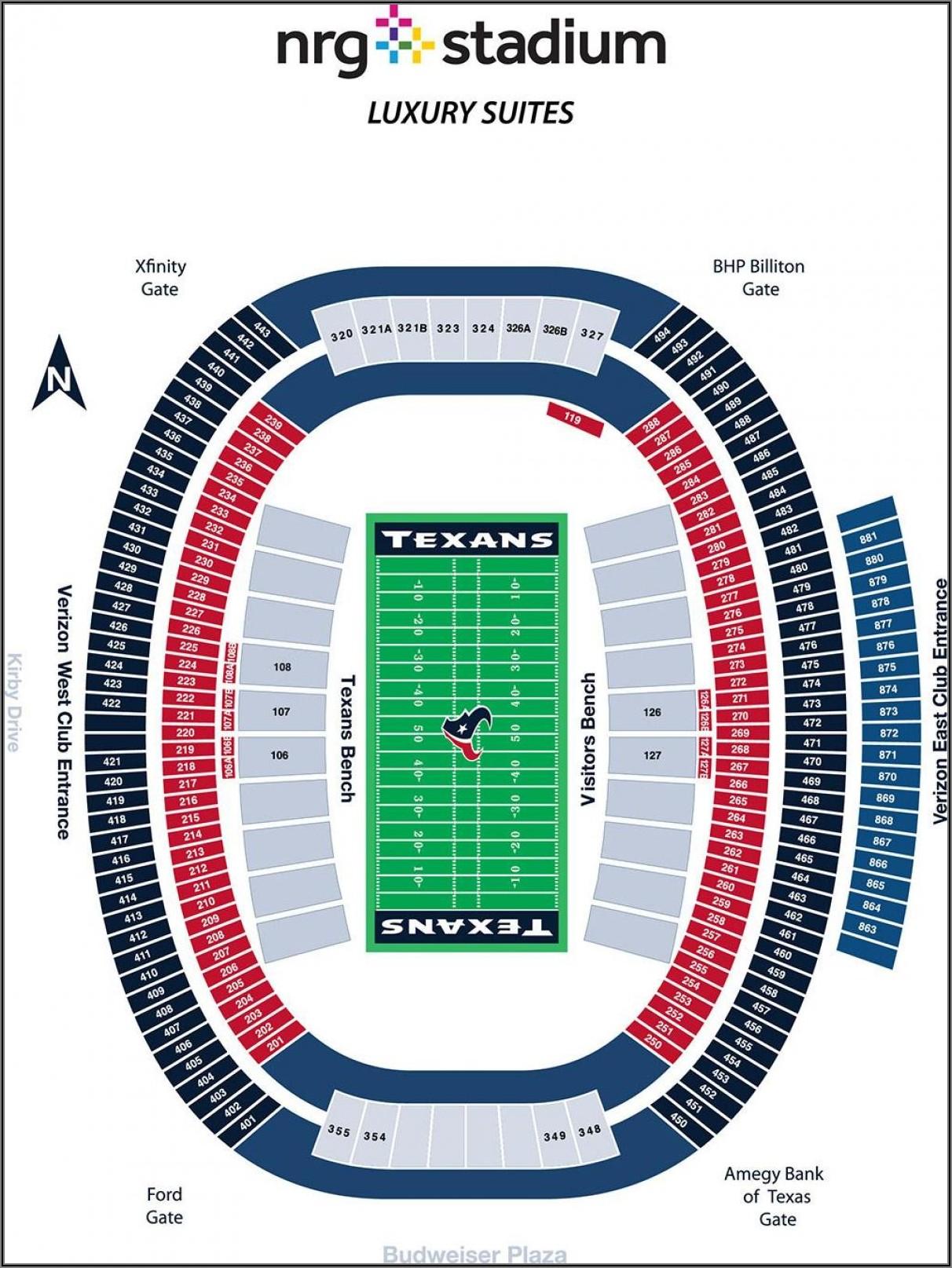 Nrg Stadium Map Seating