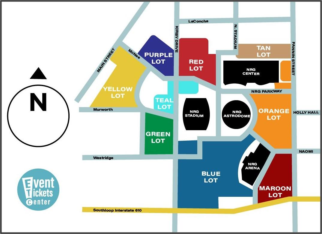 Nrg Stadium Parking Map Blue Lot