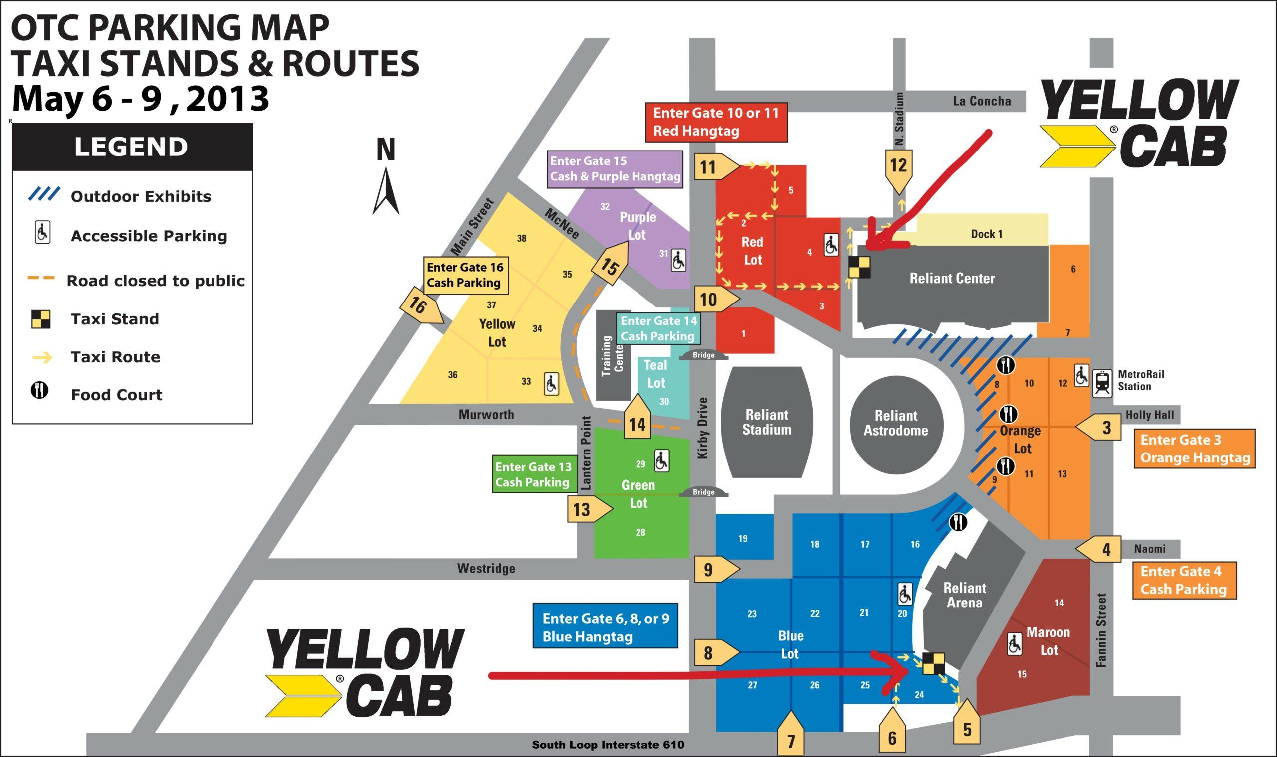 Nrg Stadium Rodeo Parking Map