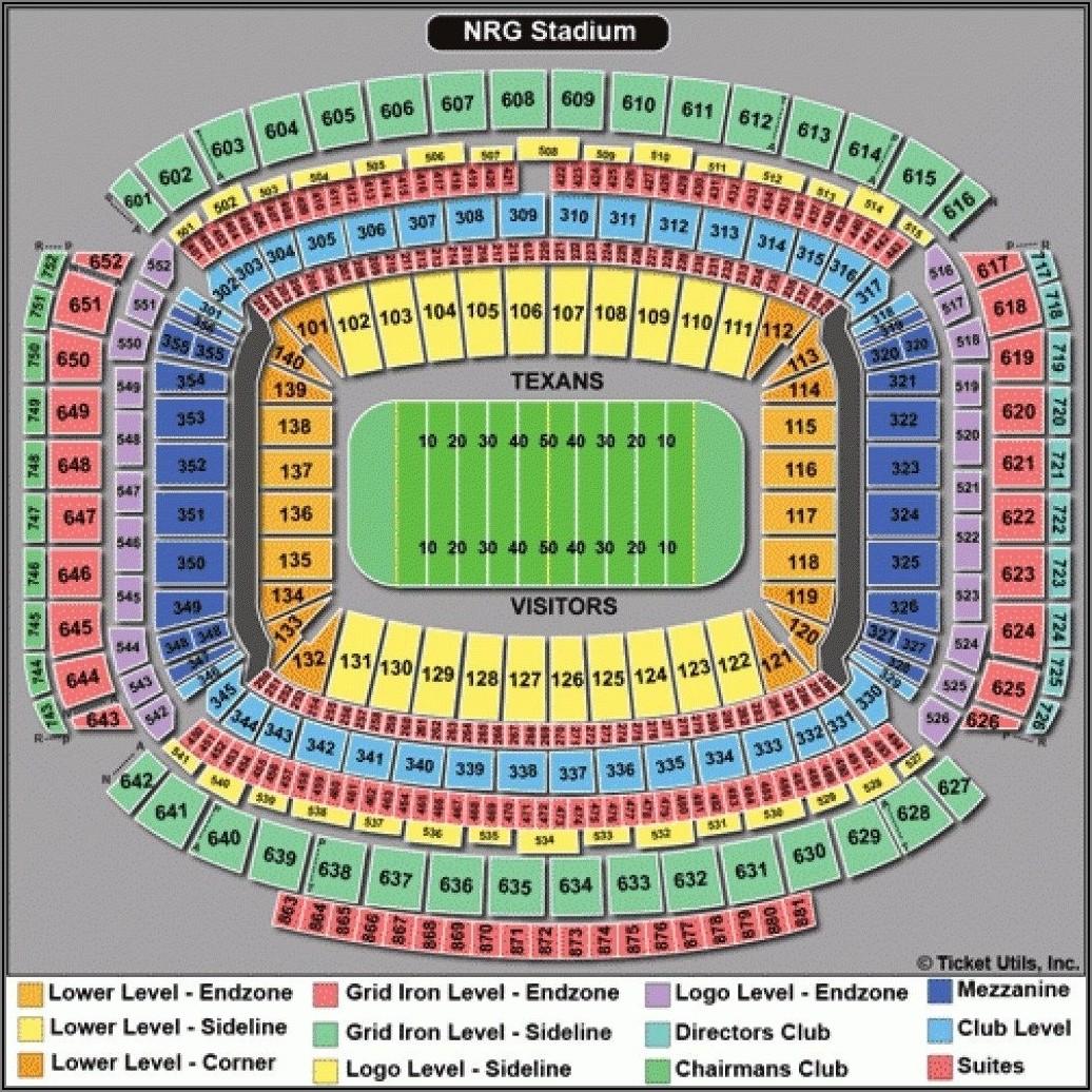 Nrg Stadium Seating Chart Texas Bowl