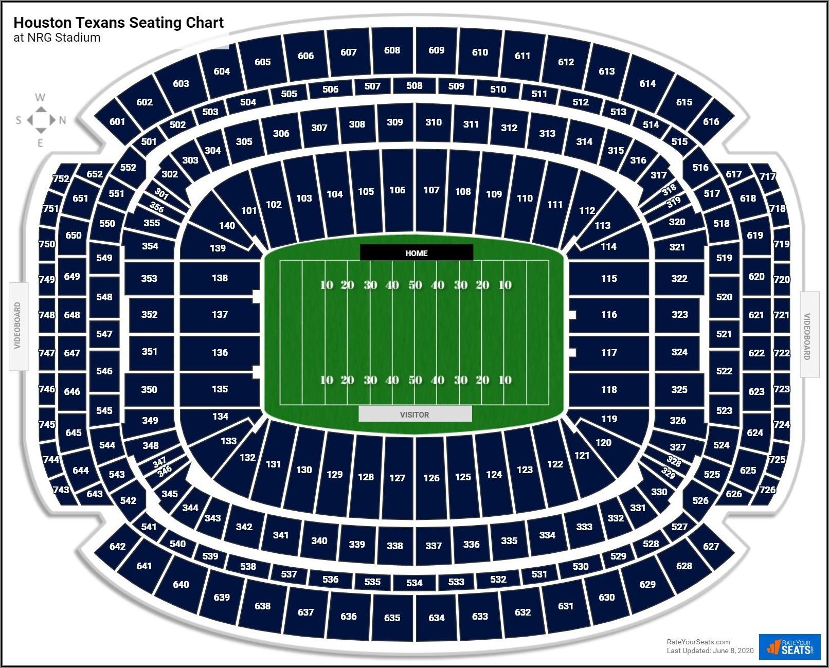Nrg Stadium Seating Chart Virtual View