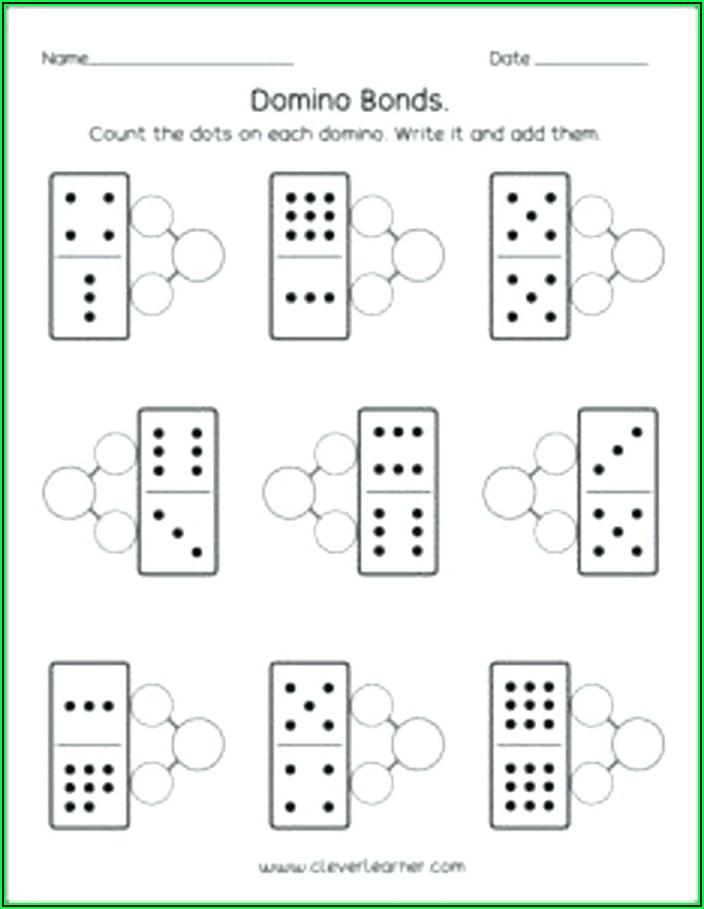 Number Bond Worksheets Kindergarten Free