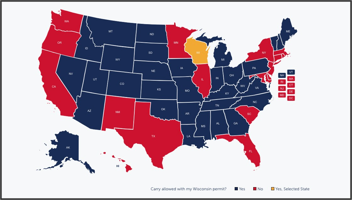 Pa Concealed Carry Reciprocity Map 2018