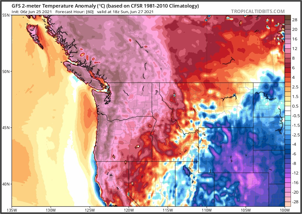 Pacific Nw Weather Map Noaa Seattle